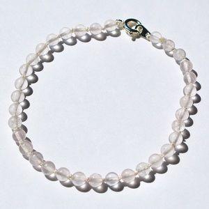 Hand Knotted Rose Quartz Beaded Bracelet